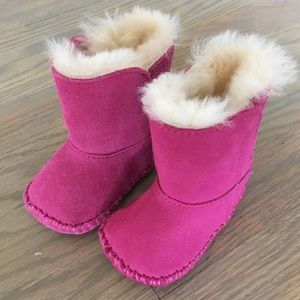 UGG Pink baby boots size 0/1